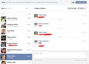 Face Book New Chat Look