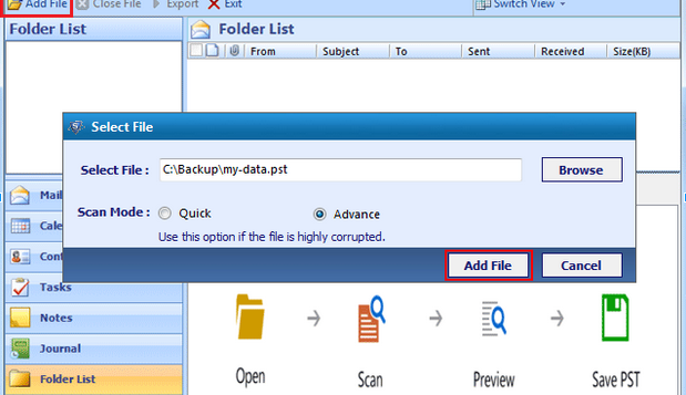 System Tool Outlook
